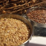 Whole gold and bronze Flax Farm linseeds are a paleo food.