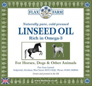 horse oil label