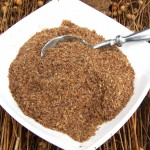 Ground bronze linseed meal