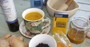 Turmeric tea and ingredientS